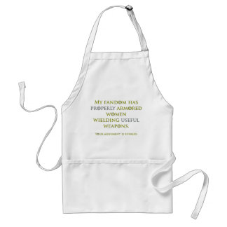 Properly Armored Women Adult Apron