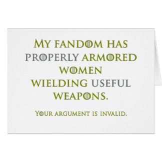Properly Armored Women Greeting Card