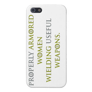 Properly Armored Women iPhone 5 Covers