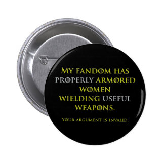 Properly Armored Women Pin