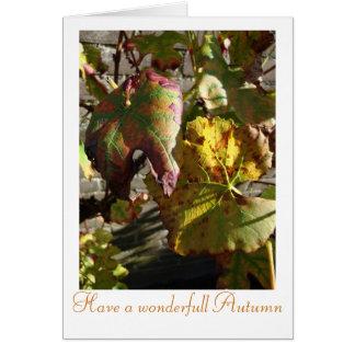 property a wonderfull autumn card