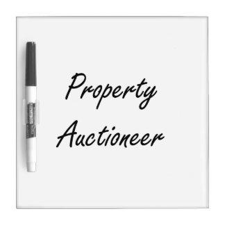 Property Auctioneer Artistic Job Design Dry-Erase Whiteboard