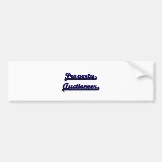 Property Auctioneer Classic Job Design Car Bumper Sticker