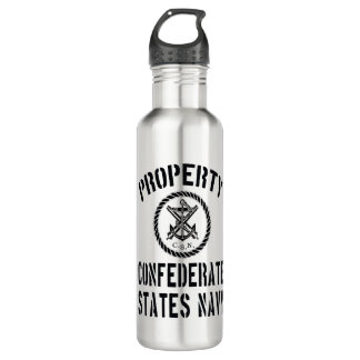 Property Confederate States Navy Stainless Steel Water Bottle
