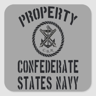 Property Confederate States Navy Sticker