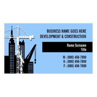Property development crane hire sales business card template