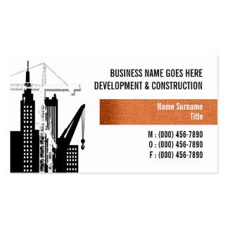 Property development crane hire sales business cards