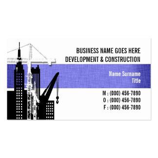 Property development crane hire sales business card templates