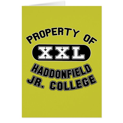 Property Haddonfield Junior College Products Card