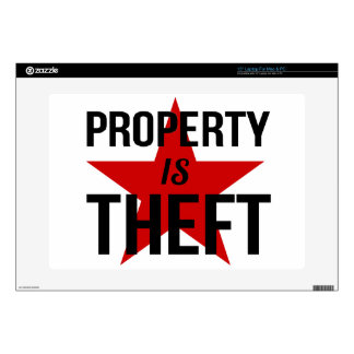 "Property is Theft - Anarchist Socialist Communist 15"" Laptop Skins"