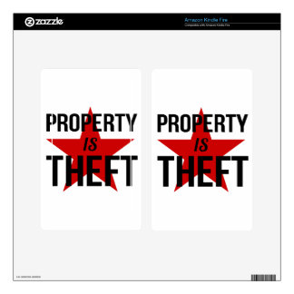 Property is Theft - Anarchist Socialist Communist Decals For Kindle Fire
