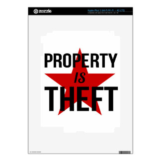 Property is Theft - Anarchist Socialist Communist iPad 3 Decal