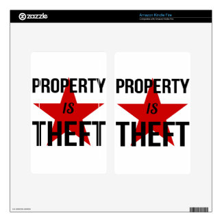 Property is Theft - Anarchist Socialist Communist Kindle Fire Decals