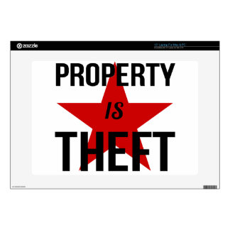 Property is Theft - Anarchist Socialist Communist Laptop Decal