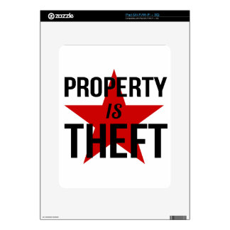 Property is Theft - Anarchist Socialist Communist Skin For iPad