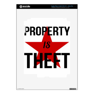 Property is Theft - Anarchist Socialist Communist Skin For iPad 3