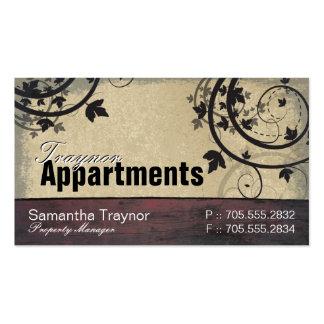 Property Manager Business Card Vintage Barn Board