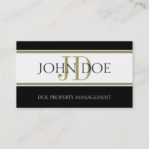 Property Manager Gold Stripe W Business Card