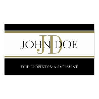 Property Manager Gold Stripe W/W Business Card