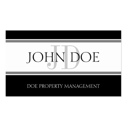 Property Manager Stripe W/W Business Cards