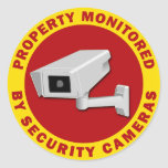 Property Monitored By Security Cameras Stickers