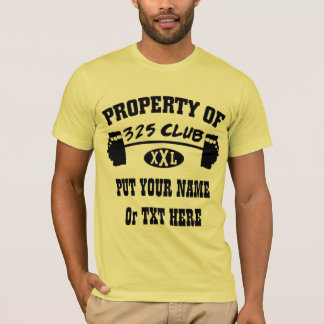 Property Of 325 Club XXL Mans T Shirt