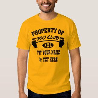 Property Of 350 Club XXL Man's Basic TShirt