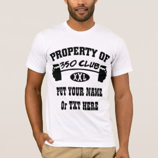 Property Of 350 Club XXL Man's Fitted TShirt