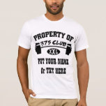 Property Of 375 Club XXL Men's Fitted T-Shirt