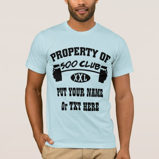 Property Of 500 Club XXL Mans American Apparel T T-Shirt
