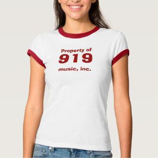 Property of, 919, music, inc. t shirts
