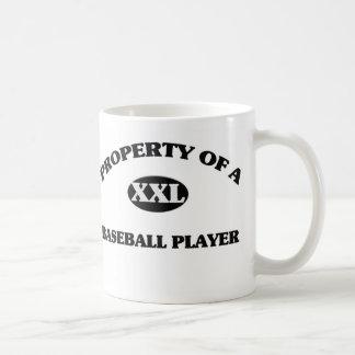 Property of a BASEBALL PLAYER Classic White Coffee Mug