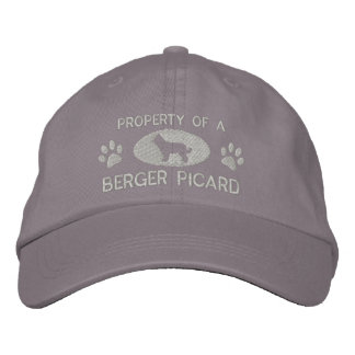 Property of a Berger Picard Embroidered Hat (Gray)