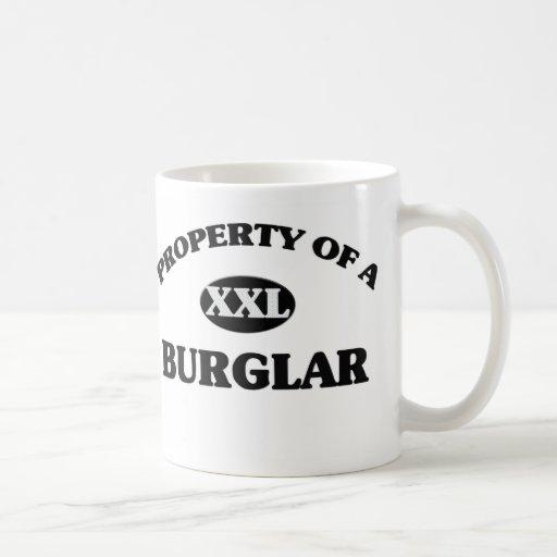 Property of a BURGLAR Classic White Coffee Mug