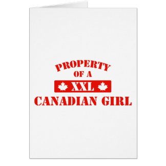Property Of A Canadian Girl Card