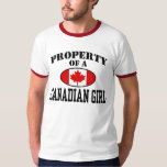 Property of a Canadian Girl Tshirts