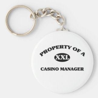 Property of a CASINO MANAGER Key Chains