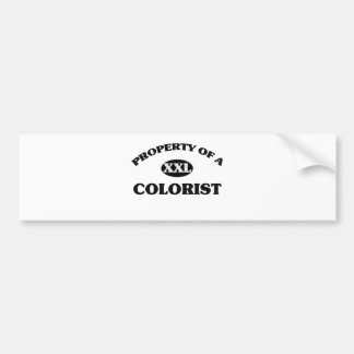 Property of a COLORIST Car Bumper Sticker