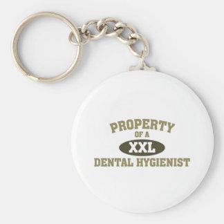 Property of a Dental Hygenist Basic Round Button Keychain