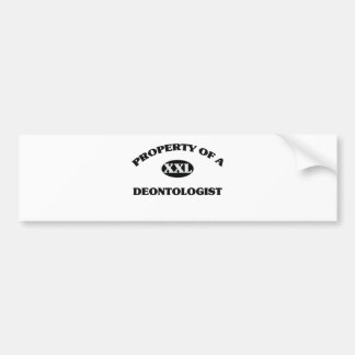 Property of a DEONTOLOGIST Bumper Stickers