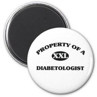 Property of a DIABETOLOGIST Fridge Magnet