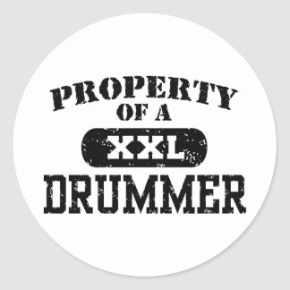 Property of a Drummer Classic Round Sticker