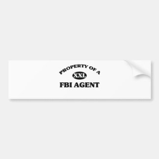 Property of a FBI AGENT Car Bumper Sticker