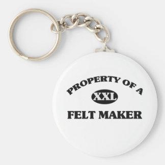 Property of a FELT MAKER Key Chains