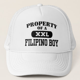 Property of a Filipino Boy Trucker Hat