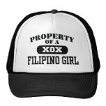 Property of a Filipino Girl Trucker Hat