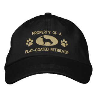 Property of a Flat-Coated Retriever Embroidered Baseball Cap