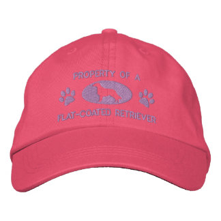 Property of a Flat-Coated Retriever Embroidered Baseball Hat