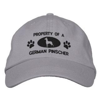 Property of a German Pinscher Embroidered Hat