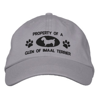 Property of a Glen of Imaal Terrier Embroidered Hats